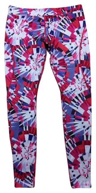 Item - Multi-color Printed Coldgear Fitted Running Tights Pants Activewear Bottoms Size 8 (M, 29, 30)