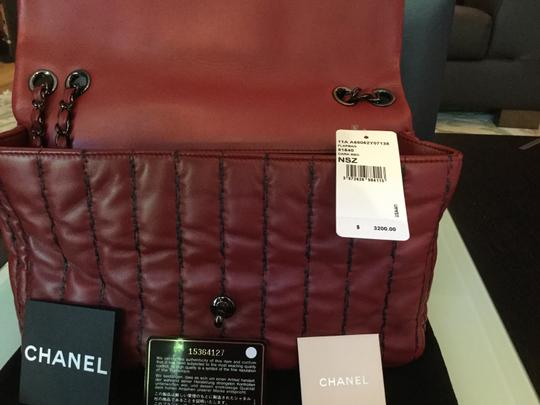 Chanel Like New Lamb Leather Soft Light Weight Roomy Everyday Vertical Quilts Gunmetal Hardware Shoulder Bag