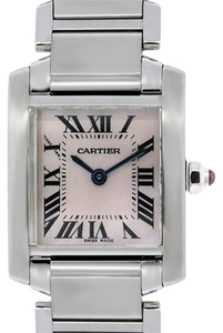 Cartier Cartier Tank Francaise Mother of Pearl Stainless Steel Ladies Watch