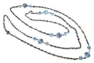 VINTAGE FACETED LEAD CRYSTAL STRAND NECKLACE-47