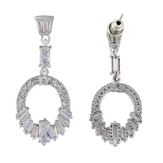 Silver/Clear Wreath Style Earrings