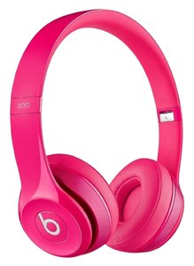 Apple New Beats Solo2 Wired On-Ear Headphones - Pink
