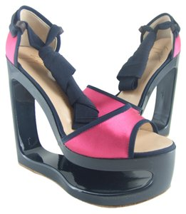 Giuseppe Zanotti Funky Chic Size 7 More Sizes New New With Tags Nwt Pink & Black Platforms