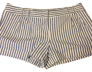 Express Cuffed Shorts White and blue