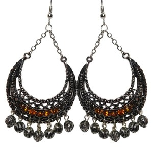 New Era New Chandelier Dangle Earrings Big Large Silver Tone Crystals J1783