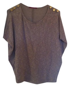 Julie's Closet Buttons Open Shoulder Top Brown