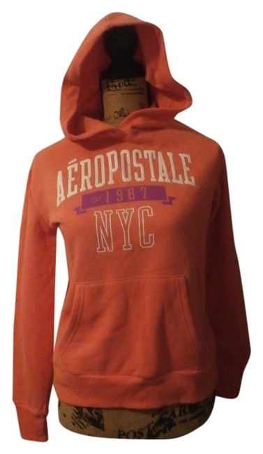 Preload https://item5.tradesy.com/images/aeropostale-peach-new-aeropostale-women-aero-ny-long-sleeve-pull-over-sweatshirthoodie-size-8-m-10333084-0-1.jpg?width=400&height=650