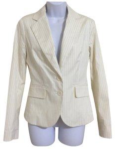 New York & Company White & Gray Blazer