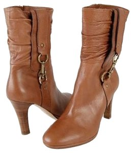 Coach Platform Ankle Boot Bootie Brown Boots