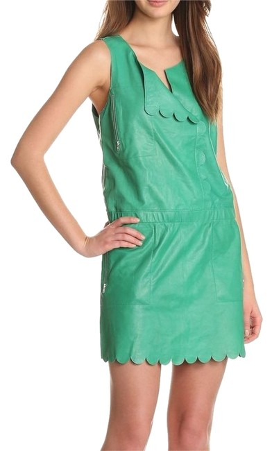 Preload https://item5.tradesy.com/images/tracy-reese-green-leather-scallop-shift-short-casual-dress-size-4-s-10333429-0-1.jpg?width=400&height=650