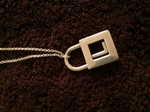 Tiffany & Co. L initial padlock charm Tiffany and co