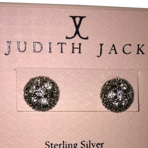 Judith Jack Judith Jack Sterling Marchasite & Crystal Domed Earrings - New!