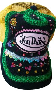 Von Dutch Von Dutch Blingy Hat Multi Color Black and Gold Mesh