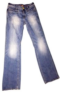 Christopher Blue Boot Cut Jeans-Distressed