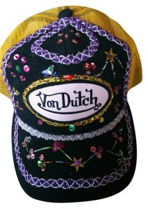 Von Dutch Von Dutch Blingy Hat Multi Color Black & Gold