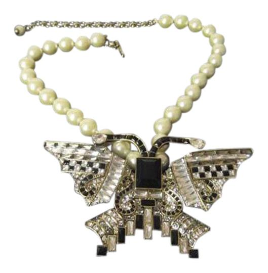 Preload https://item4.tradesy.com/images/heidi-daus-creambronzetone-eva-diva-beaded-crystal-butterfly-drop-necklace-10334713-0-7.jpg?width=440&height=440