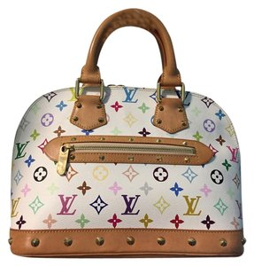 Louis Vuitton Satchel in Multicolor white