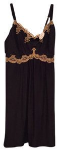 Soma Intimates short dress Black / gold lace Limited Edition on Tradesy