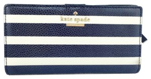 Kate Spade Kate Spade Navy/Ivory Striped Stacy Wallet New With Tags