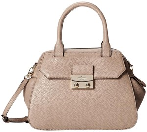 Kate Spade New York Alice Street Adriana Leather Crossbody Satchel in Warm Putty