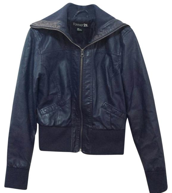 Preload https://item1.tradesy.com/images/forever-21-blue-leather-jacket-size-4-s-10335820-0-1.jpg?width=400&height=650