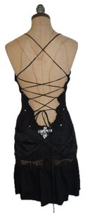 Anthropologie Rhinestone Sexy Lace Up Dress
