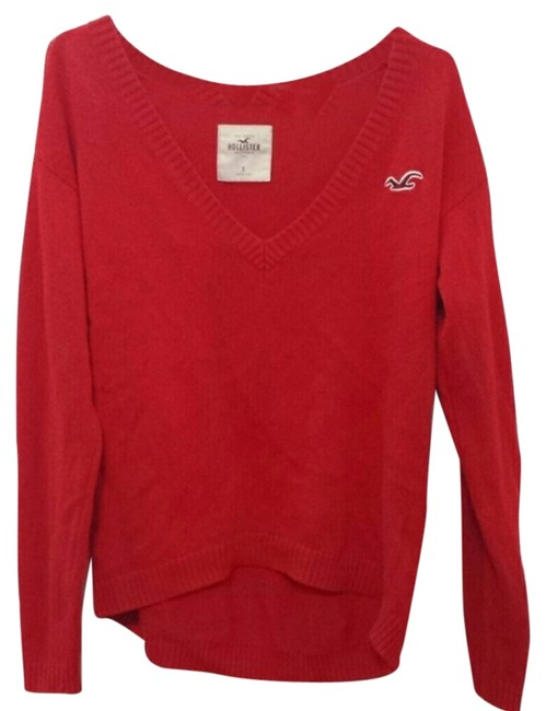 Preload https://item3.tradesy.com/images/hollister-red-knitted-sweaterpullover-size-4-s-10335862-0-1.jpg?width=400&height=650