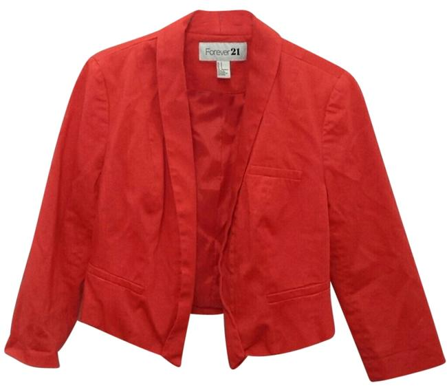 Preload https://item5.tradesy.com/images/forever-21-red-blazer-size-4-s-10335934-0-1.jpg?width=400&height=650
