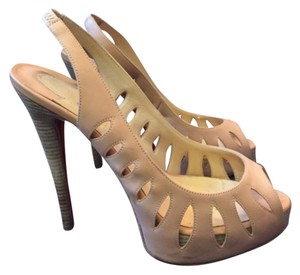 Christian Louboutin Cream/pinkish Platforms
