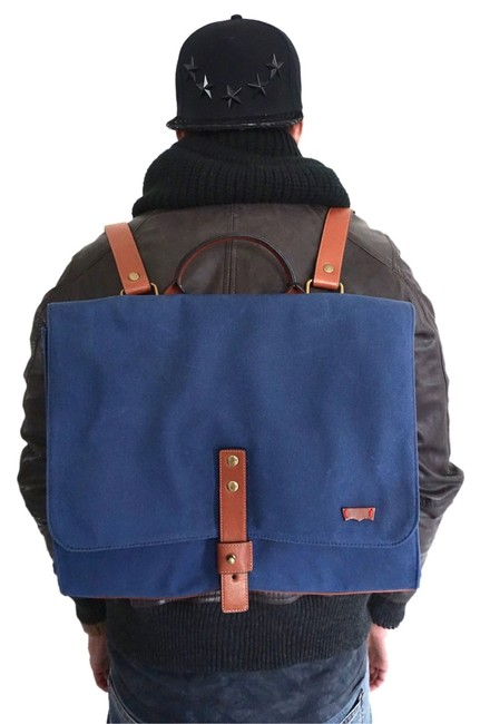 Item - Valencia Light Brown Canvas and Leather Backpack