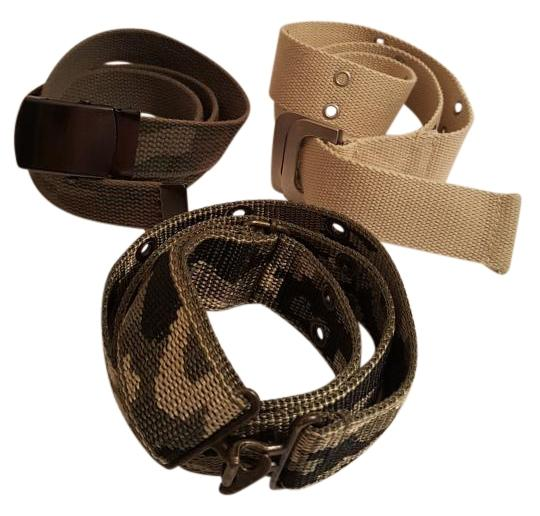 Camouflage Military Tactical Belt Trio Mixed Lot Bundle Set of 3 L/XL Camouflage Military Tactical Belt Trio Mixed Lot Bundle Set of 3 L/XL