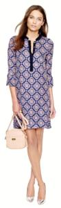 J.Crew short dress Navy Medallion Paisley Silk Collection on Tradesy