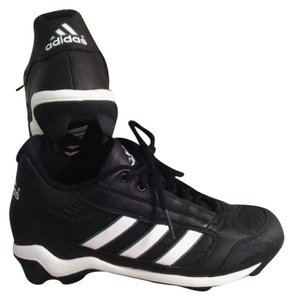 adidas Lace Up Cleats Molded Black Cleats Athletic