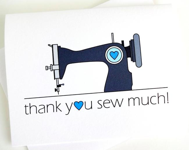 Item - White Thank You Sew Much Card