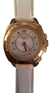 Coach Coach Boyfriend Watch - Gold Face, White Leather Band