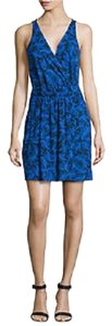 Diane von Furstenberg short dress BLUE Dvf Wrap Resort Dvf Wrap on Tradesy