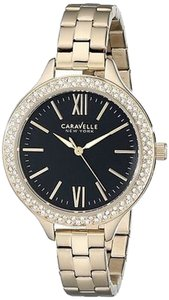 Bulova Caravelle York Gold-tone Glitz Ladies Watch 44l126
