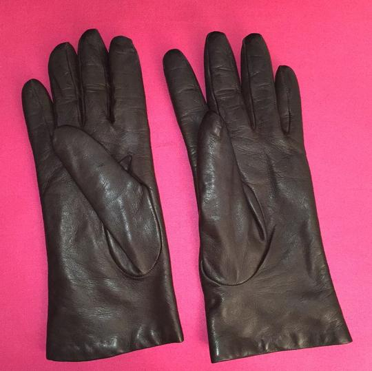Saks Fifth Avenue Leather/cashmere gloves