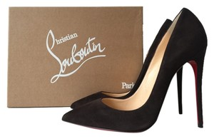 Christian Louboutin So Kate 120 120mm Suede Dark Chocolate Taupe Pigalle Follies 100 100mm 38 Brown Pumps
