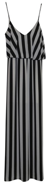 Black and White Maxi Dress by Pixy + Ivy Small Stripe Maxi