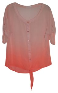 Blu Pepper Sheer Medium Top Orange Sherbert Ombre