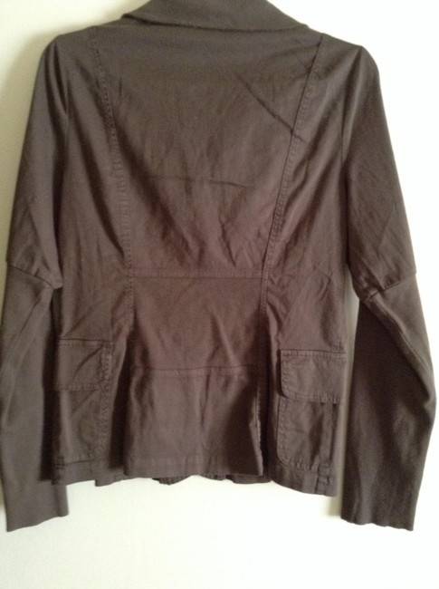 "XCVI Material: 97% Cotton And 3% Spandex Length: 24"" Width Across Chest: 18"" New And Unworn Without Tag Brown Jacket"