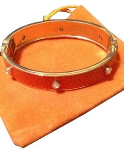 Anne Klein Anne Klein Orange Leather Cuff Bracelet