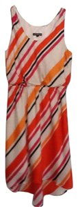 Express short dress Multi: orange, pink, black& white stripes on Tradesy