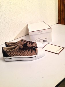 Coach Sneakers Canvas Brown Athletic