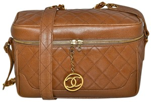 Chanel Brown Caviar Leather Cross Body Bag