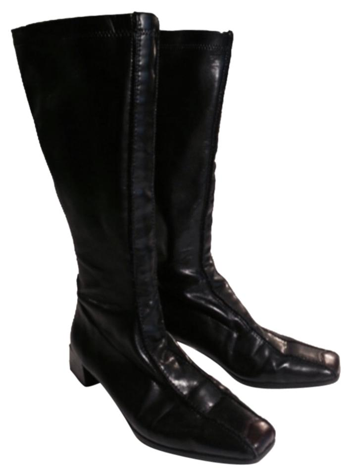 Rieker Black Brown Accent Stretch On Toe Anti-stress Comfortable Stretch Accent Boots/Booties 98efbb