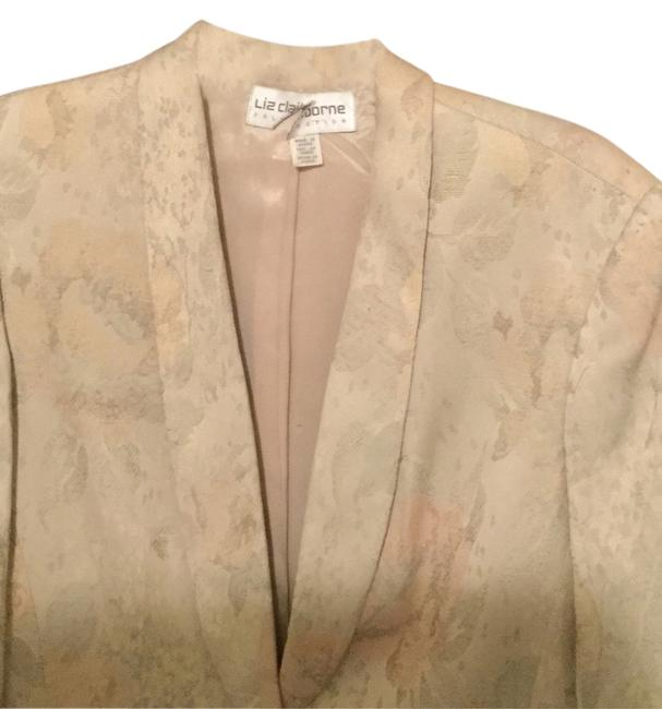 Liz Claiborne Coat Stylish Beige and peach Blazer