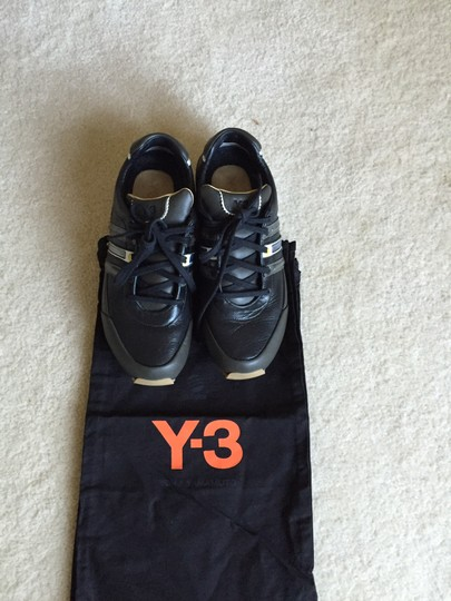Yohji Yamamoto Black leather with stripes Athletic