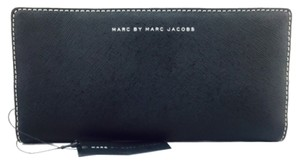 Marc by Marc Jacobs Marc By Marc Jacobs black/ Tan leather Bifold Wallet